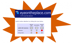 Eyeontheplace.com Motion Detection Switching